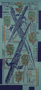 Pertenencias 10 Acrilico sobre tela 200 x 90 cm-10x15