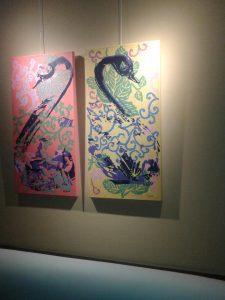 Transformaciones 21 y 20 Acrilico sobre tela 80 x 40 cm cada una