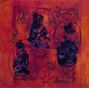 Transformaciones 23 Acrilico sobre   tela 90 x 90 cm